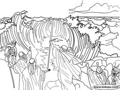 moses and the red sea printables | Moses red sea coloring page
