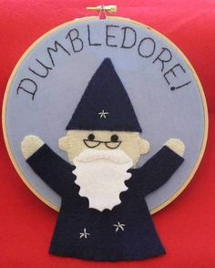 Dumbledore felt embroidery. Would love the whole gang eventually :D