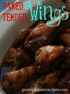 Baked Wings.  So TENDER!