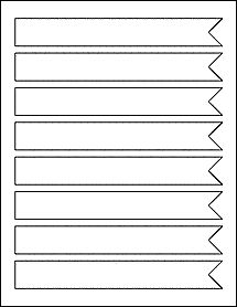 "Wrap Around Flag Labels On Blank Label Sheets  7.5"" x 1"" - Great for a decorative address label."