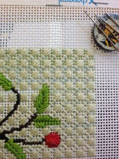 Nice background, needlepoint stitch