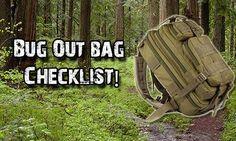 Bug Out Bag Checklist - SHTF Preparedness