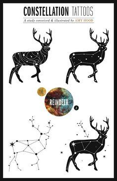 Constellation tattoos.