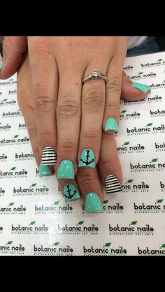 Sailor nails,  I'm loving the stripes