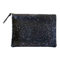 Clutch Black White Galaxy by Falconwright