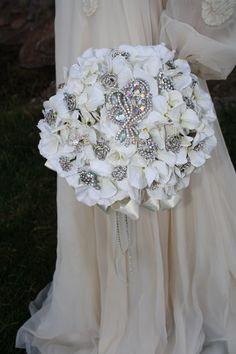 Brooch Bouquet Rhinestone Bridal Bouquet Elegant by AbbyPlace