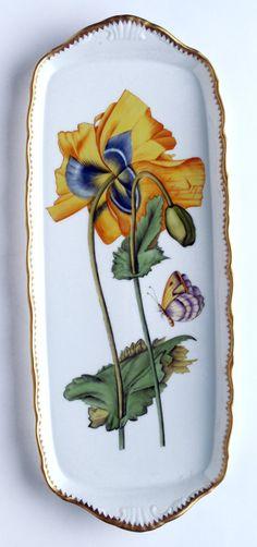 Anna Weatherley Sandwich Tray Yellow Poppy