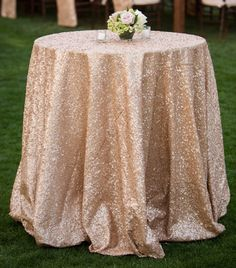 gold sequence tablecloth