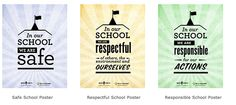 Check it out.  Three downloadable Classroom Rules Mini-Posters to hang in your class or hallway. Time to laminate!