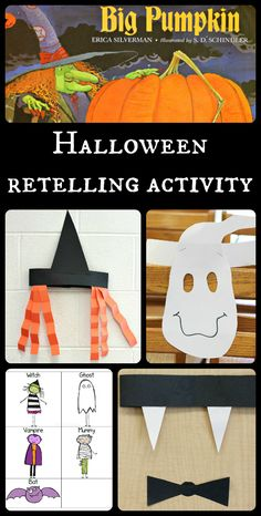 Read a favorite Halloween book, create headbands for the characters, then retell and sequence the story in a silly meaningful way! Includes free printable.