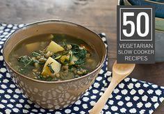 50 Vegetarian Slow Cooker Recipes