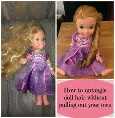 Detangle a dolls hair