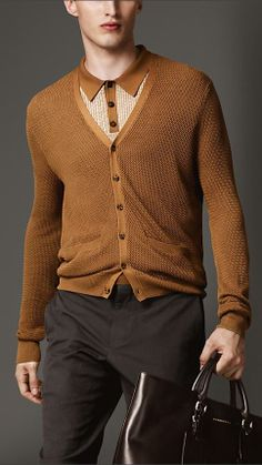 Burberry London Knitted Silk Cardigan