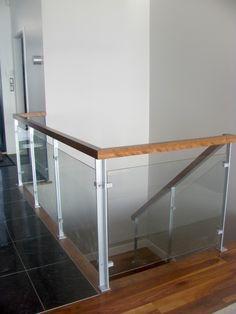 Garde corps escalier verre