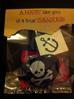 DIY Pirate Valentine treats...super cute, super easy!