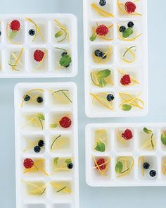 fruity ice cubes! Definitely doing this for my next summer party.