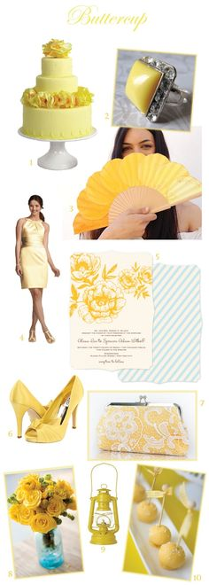 #Buttercup #Yellow #Wedding #Inspiration from sweetvioletbride.com
