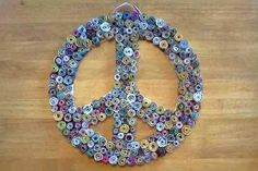 Rolled Magazine Peace Sign