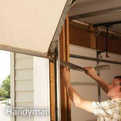Fixing Garage Doors:  Repair  1: Weather seal your garage door Repair 2: Replace rotting trim Repair 3: Clean up a rusty door track