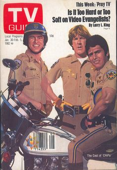 CHiPs on the cover of TV Guide (January 30, 1982)