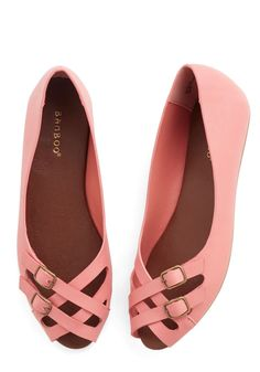 Prancing in the Moonlight Flat in Pink, @ModCloth