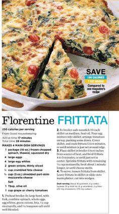 Florentine Frittata Recipe