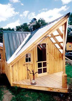 Tiny House Cabin Exterior.