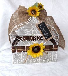 White wire Bird Cage Wedding Card Holder by ChurchMouseCreations, $45.00