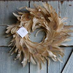 Pale Peacock Wreath