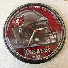 TAMPA BAY BUCCANEERS ~ Official NFL 12 Inch Wall Clock NFC South Division  Awesome Clock ~~ Please REPINIT Happy Thanksgiving