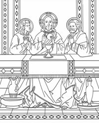 catholic coloring pages for mass - photo#14