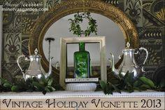 Minerva's Garden:  Vintage Holiday Vignette 2013