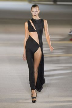 Sexy black cut out evening gown