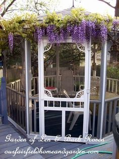 Wisteria on the gazebo (Garden of Len & Barb Rosen)