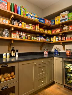 """walk-in"" pantry - love the counter"