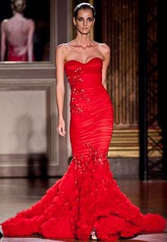 Red Mermaid Prom Dress by Zuhair Murad