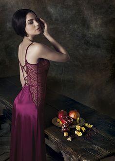 Long silk nightdress #nightdress #silk #lingerie #parah #rinascimento #collection #winter 2013 #romance #sexy