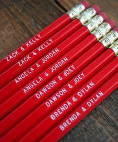 Greenwich Letterpress : Teenage Power Couple Pencils $8