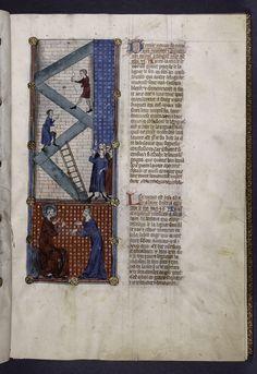 Illustration to a Bible Historiée et Vie des Saints  Spencer Collection Ms. 022 folio 14  New York Public Library, France, circa 1390