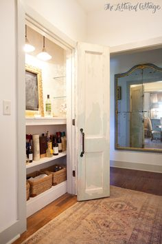 how about turning a dining room closet into a bar - how clever!!!!