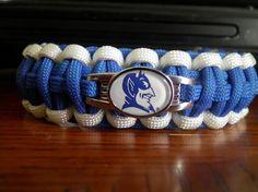 NCAA  Paracord Bracelet Duke Blue Devils by duckhunter68 on Etsy, $16.95