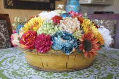 fun Spring floral arrangement