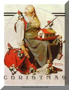 Norman Rockwell - Santa with Elves