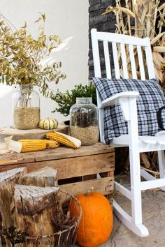 Fall Front Porch by The Wood Grain Cottage