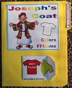 Joseph's Colorful Coat File Folder Game printable (colors for preschool)