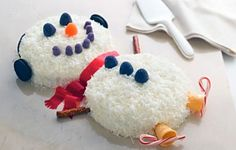 holiday, snowman cake, coconuts, snowman coconut, coconut cake, cakes, candy canes, cake recipes, ice cream cones