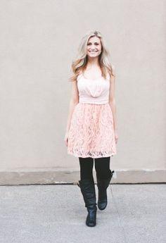 Apricot Lace Top/Dress | The Jean Girl Shop