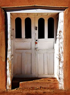 Door to Casa San Ysidro in Corrales, New Mexico. An old adobe house that dates to the 1870s, it's now a museum.