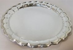 Large Round Sterling Silver Tray/Salver. For Sale at www.EstateSilver.com