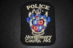 Montgomery County Police Patch, Maryland